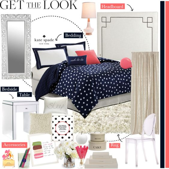 whoa kate spade for the home kate spade by southernpearldesigns on polyvore home. Black Bedroom Furniture Sets. Home Design Ideas