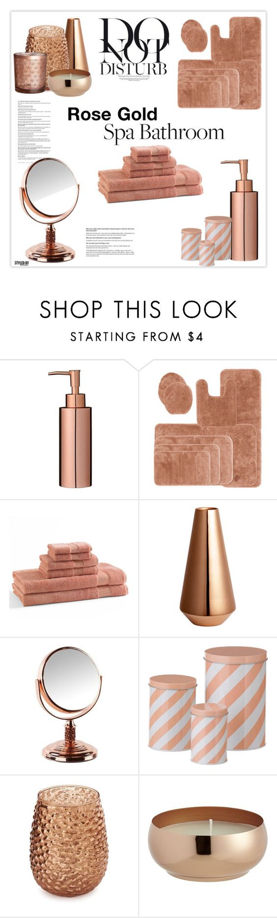 Rose gold bathroom decor gold bathroom bathrooms decor for Room decor accessories