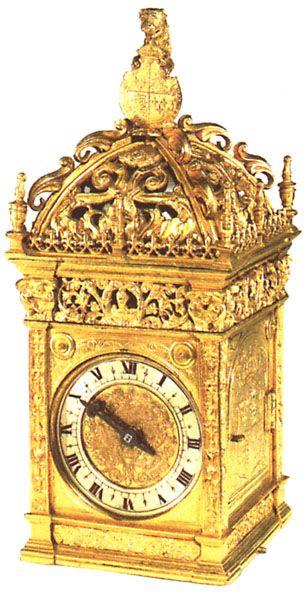 An ornate clock given to Anne Boleyn by Henry VIII