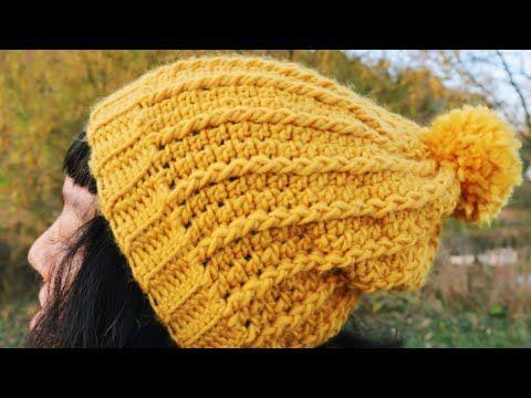 How To Crochet Easy Beanie Hat For Beginner Youtube Crochet Hats Crochet For Beginners Crochet Hat Pattern