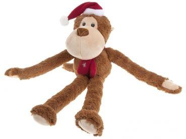 Weihnachten...das Fest der Liebe und Geschenke. Ob als Geschenk oder für den eigenen Hund. Dieser Affe aus Plüsch mit Squeeker wird Ihr Hund zum Spielen gern haben.