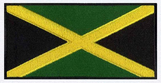 Flag of Jamaica embroidery design
