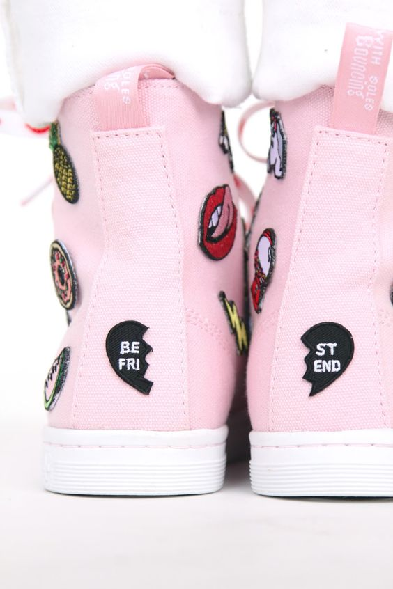 DIY Patch Patterned Sneakers: