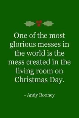 Make a mess-a wonderful mess-of ripped paper, discarded bows, piles of presents, and love.