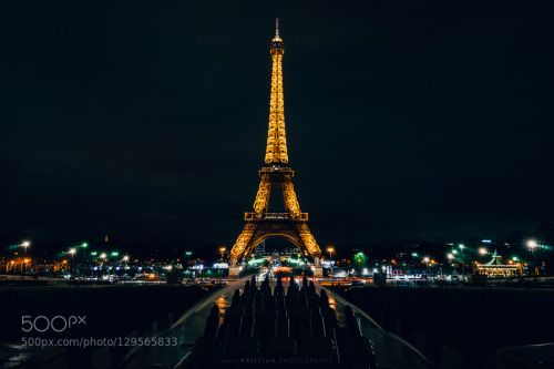 In blackest night by krio  kristianphotography architecture cityscape eiffel tower france landmark night nightscape paris touri