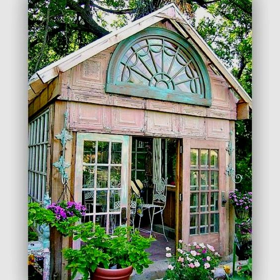 Recycled greenhouse.