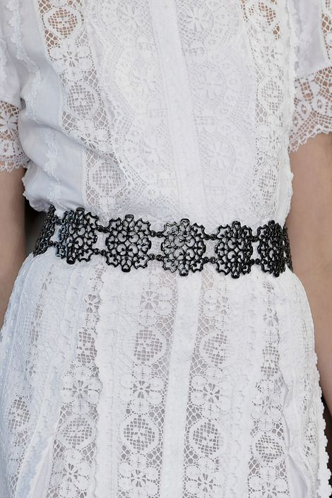 This lattice belt by Oscar has such beautiful details it like wearing a piece of jewelry.