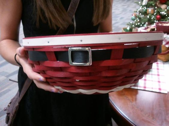 Love the Santa belly bowl basket