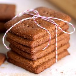 Homemade Graham Crackers made lower fat and lower sugar! #foodgawker