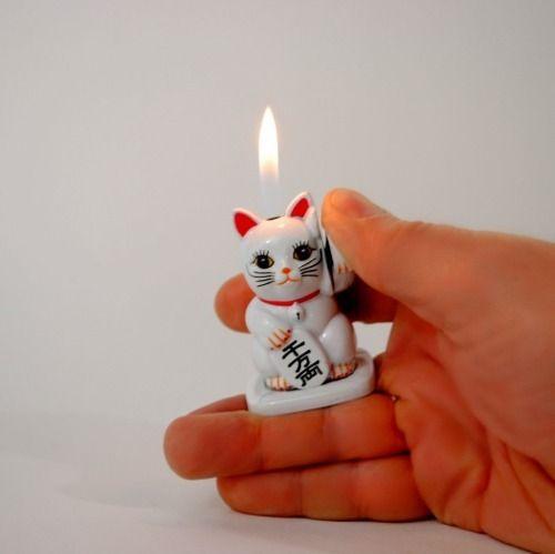 Maneki-neko Chinese Lucky Cat Lighter