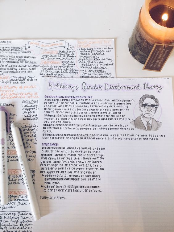 studysthetics: 10/oct - rewriting my class notes... - The Organised Student