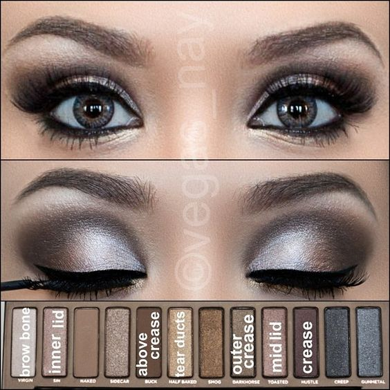 Eye makeup tutorial using the original Urban Decay Naked palette. Photo by vegas_nay