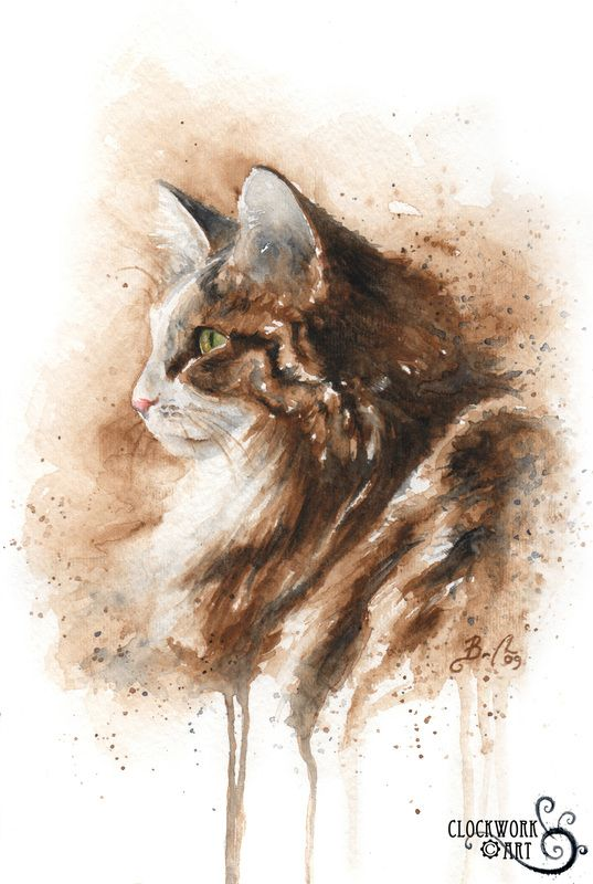 Clockwork Art - Braden Duncan | Cat Art | Pinterest | Portrait ...