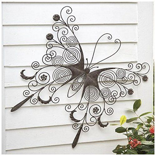 Metal Erfly Wall Art