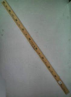 Metro de madera pr ctico para trazar y medir el largo - Metro para medir ...