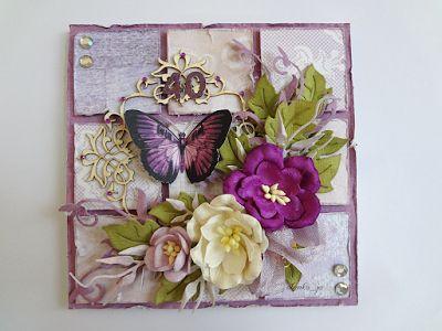 Robótkowa kraina Oli, Card with butterfly and flowers
