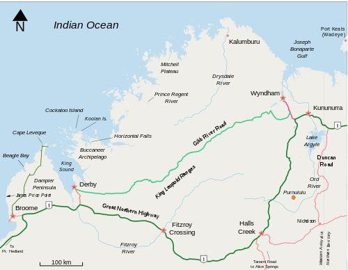 Gibb River Road Wikipedia the free encyclopedia – Road Map Wikipedia