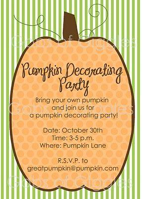 Pumpkin Decorating Party!!