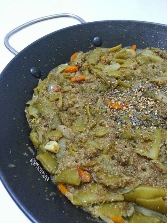 Judías Verdes con Fonio Integral (Guisito Express) - Gastrocenicienta