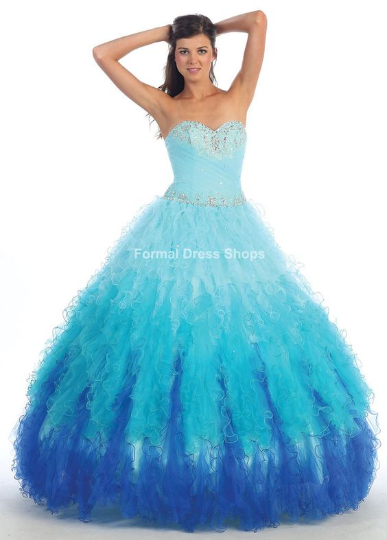 long sweet 16 dress in blue | QUINCEANERA PAGEANT BLUE PINK ...