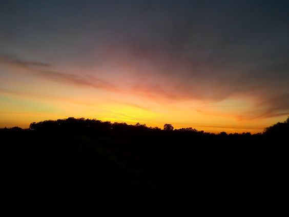 Awesome sunset from mountain biker.