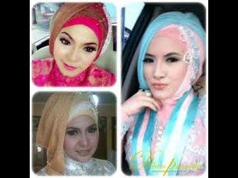 Tutorial Hijab 2 Warna Segi Empat Untuk Pesta Warna Pesta Hijab