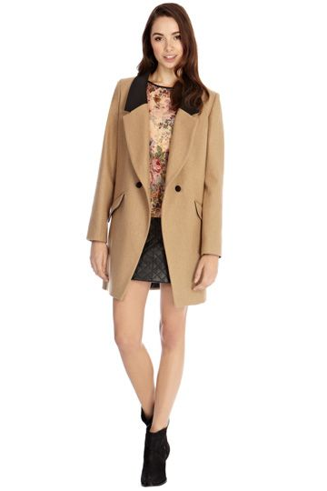 Camel car coat by Oasis | Winter Coats and Jackets | Pinterest