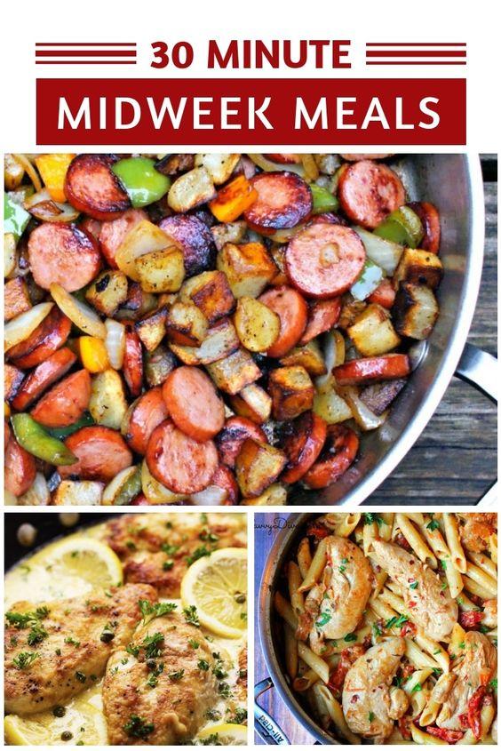 Best 30 Minute Dinner Recipes - Easy Midweek Meals!