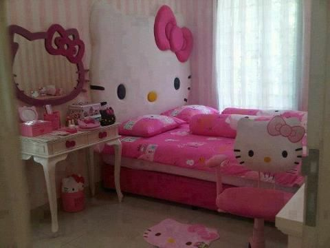 Hello Kitty Kid Room  Bedrooms For My Lil Girl  Pinterest  Head Interesting Hello Kitty Bedroom Designs Decorating Inspiration