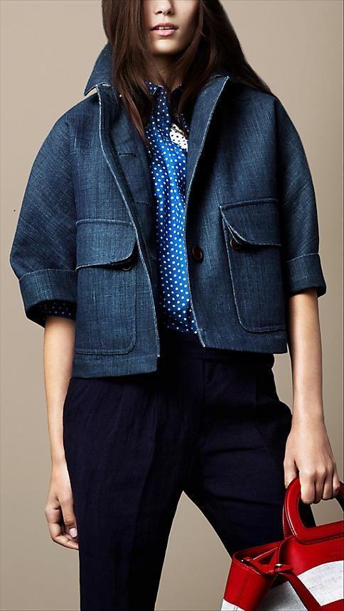 Burberry Brit Sculptural Linen Jacket