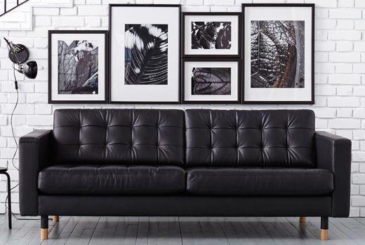 Ikea Landskrona Leather Sofa Ikea Leather Sofa Leather Sofa Living Room Apartment Decorating Livingroom
