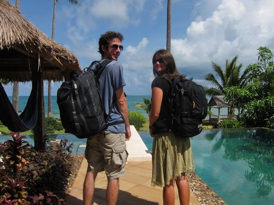 3 Years of Travelling with Hand Luggage Only: Our Packing List Update ... Us with all our belongings
