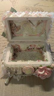 Kitty'sScrapPost: Shabby Chic Mini Wooden Box