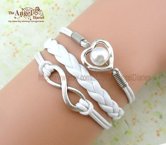 Bracelet  To Infinity and Beyond  heart shaped by TheAngelDiaries, $3.99