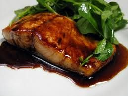 Balsamic Glazed Salmon (South Beach Phase 1 recipes.sparkpeop...: