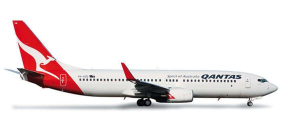 HERPA WINGS 1/500 QANTAS BOEING 737-800! MINT! 517850