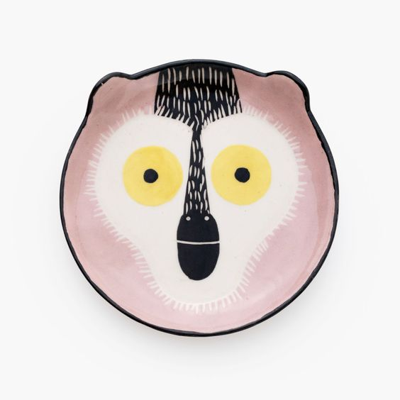 Petite-assiette-animal-pour-enfant-D-20cm-singe-v1