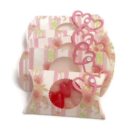 Floral Window Pillow Favor Boxes Pink Floral by ...