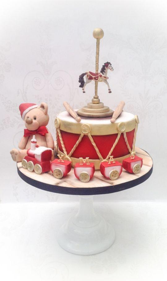 Charity Christmas cake Vintage Toys