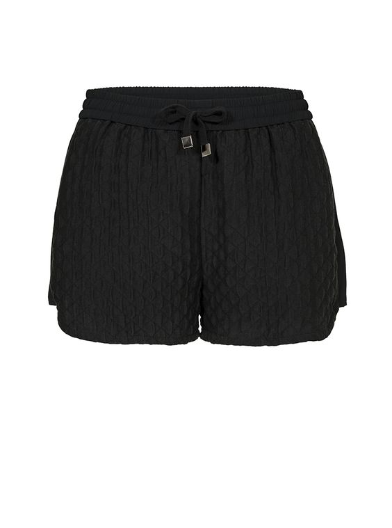 Ran Black Quilted Shorts | Custommade.dk