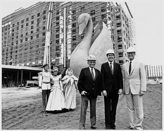 Walt Disney World Swan Vintage Photo