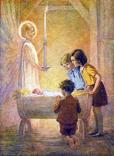 Margaret Tarrant Kerst Gedachte Feest Hij Ts Geboren Lb