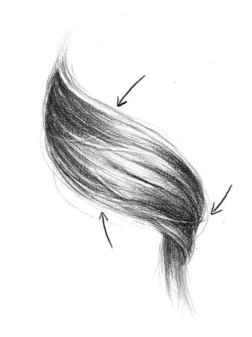 How To Draw Realistic Hair In 8 Steps In 2020 Realistic Drawings Realistic Hair Drawing How To Draw Hair