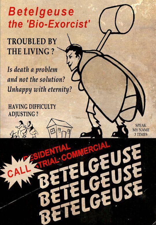 "vixensandmonsters: "" Beetlejuice (1988) dir. Tim Burton """