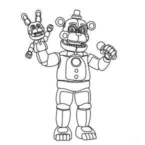 Funtime Freddy Fnaf Coloring Pages Em 2020 Desenhos Desenhos