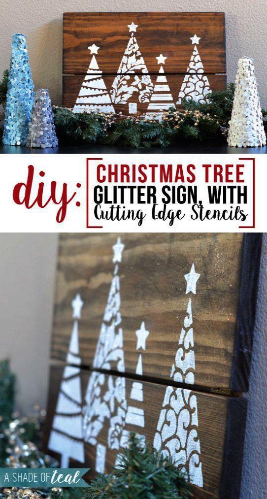 Kids Merry And Bright Pretty Christmas Wreath T Shirt 4 Asphalt Christmas Tree Stencil Diy Christmas Tree Christmas Tree Glitter