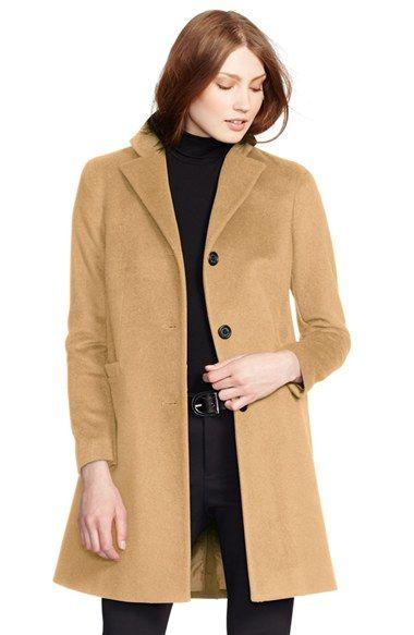 Women\u0026#39;s Lauren Ralph Lauren Wool Blend Reefer Coat