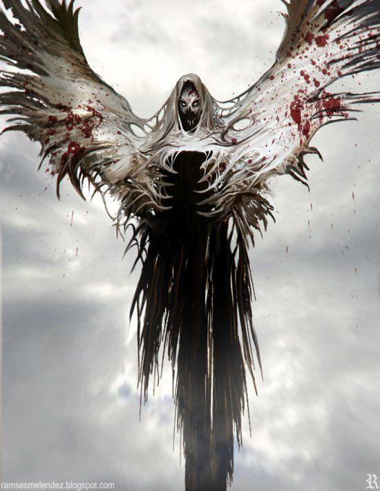 Demonios Anjos Caidos E Seres Fantasmagoricos Nas Ilustracoes De