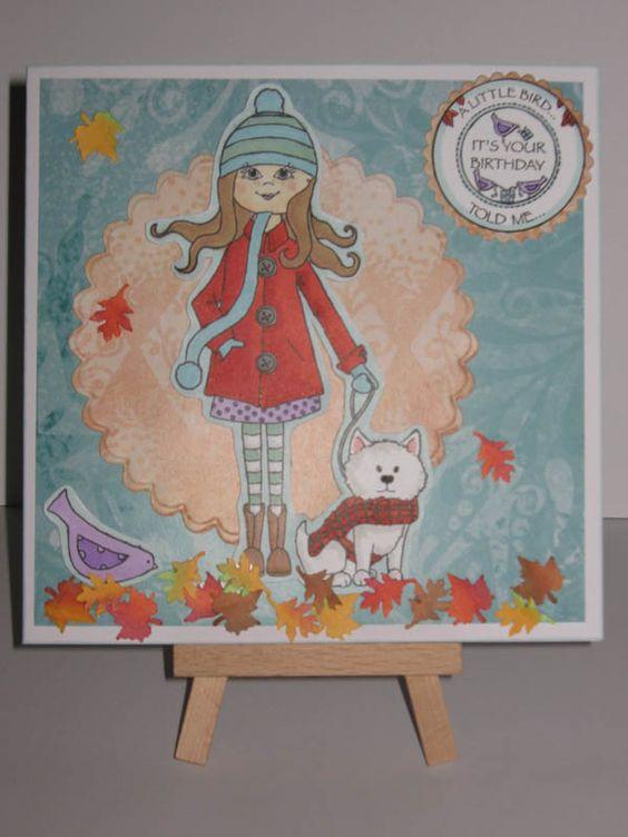 Handmade Autumn Birthday Card made by Sarah Bell