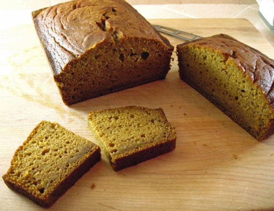 Pumpkin Bread Sweetened with Maple Syrup
